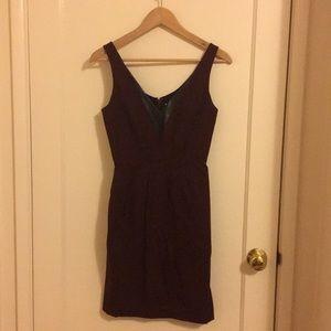 Burgundy Rebecca Minkoff dress, leather detailing
